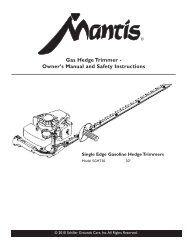 Gas Hedge Trimmer - Mantis