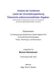 Belastung der Nettoeinkommen mit Umsatzsteuer - Mag. (FH ...