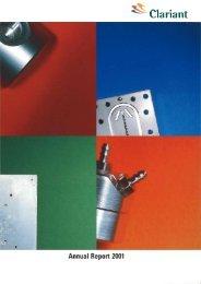 Annual Report 2001 - Clariant