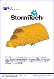 Brosjyre 12 sider Stormtech - VA Systemer