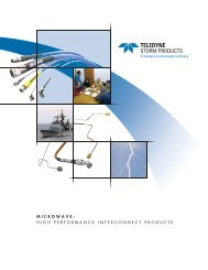 MICROWAVE: HIGH PERFORMANCE INTERCONNECT PRODUCTS