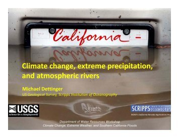 Climate change, extreme precipitation, and atmospheric rivers and ...