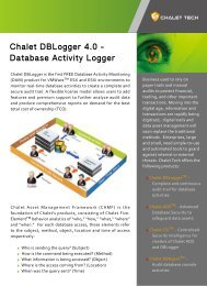 Chalet DBLogger 4.0 - Database Activity Logger