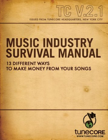 In today's world your songs can generate money - TuneCore Blog
