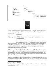 Film Sound - MSc Sound Design