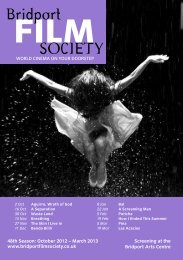 Programme - Bridport Film Society