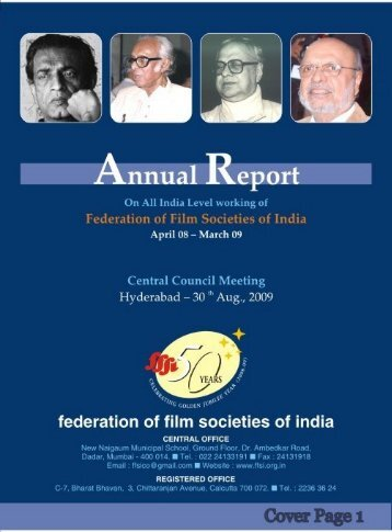 Annual Report 08-09 - federation of film societies of india