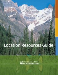 Location Resources Guide - BC Film Commission