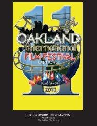 Sponsorship packages - 11th Oakland International Film Festival