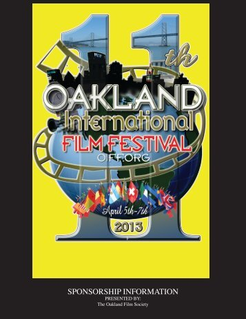 Sponsorship packages - 11th Oakland International Film Festival