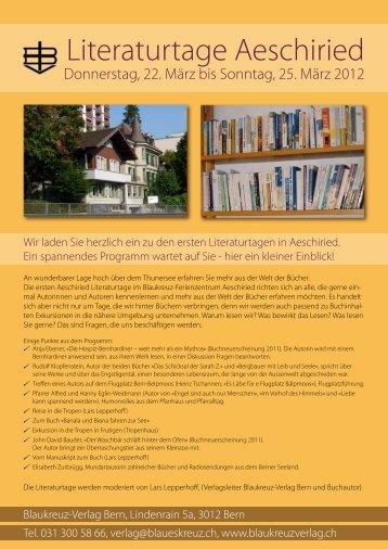 Literaturtage Aeschiried - Ferienzentrum Aeschiried