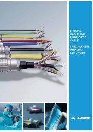 Spezialkabel und LWL-Leitungen - Lemo