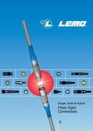 Fibre Optic Connectors 5 - Lemo