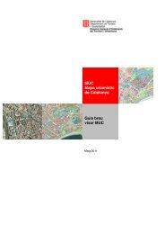 Guia breu visor MUC MUC Mapa urbanístic de Catalunya