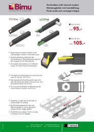 Porte-outils IK avec arrosage intérieur