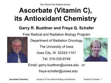 The Antioxidant Chemistry of Ascorbate \(Vitamin C\) - sfrbm