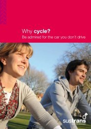 Why cycle - Sustrans