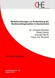 Modellrechnungen zur Entwicklung der ... - CHE Consult