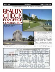 Flocks - Real Estate Center at Texas A&M University