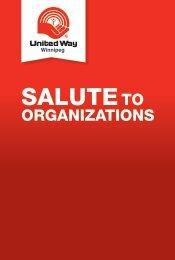 Salute To Organizations - United Way of Winnipeg
