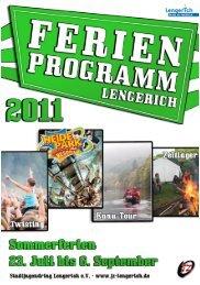 Ferienprogrammheft 2011 (PDF 7,0 MB) - Stadt Lengerich