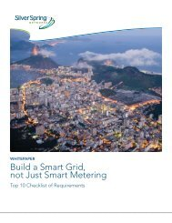 Build a Smart Grid, not Just Smart Metering - Silver Spring Networks