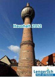 Teilergebnisplan 2012 - Stadt Lengerich