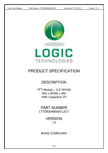 Table of Contents - Logic Technologies