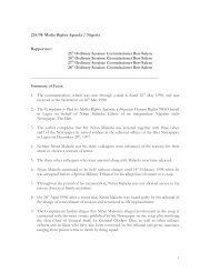 Comm. 224/98 - Rights . Commission Africaine des Droits de l ...