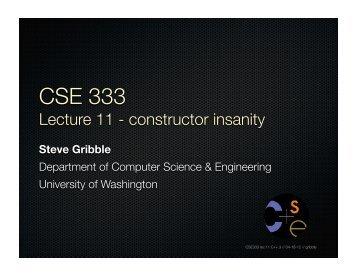 constructor - Computer Science & Engineering