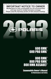 maintenance - Polaris