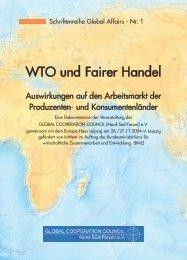 WTO und fairer Handel - Schriftenreihe Global Affairs - Nr. 1 - Wir°My