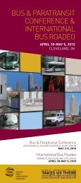 2010 Bus & Paratransit Conference Program - American Public ...