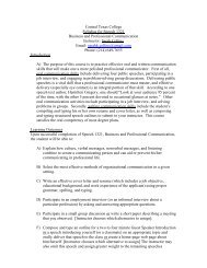 Central Texas College Syllabus for Speech 1321 Business and ...