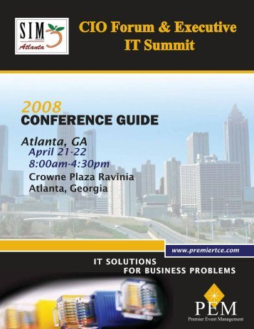 CONFERENCE GUIDE - The CIO Forum by PEM Conferences