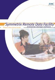 Symmetrix Remote Data Facility (SRDF) Product Description ... - EMC