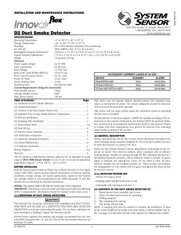 d2 duct smoke detector system sensor?quality=85 the i 3 series heads and system sensor 2451 wiring diagram at webbmarketing.co