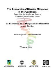 The Economics of Disaster Mitigation in the Caribbean - OAS