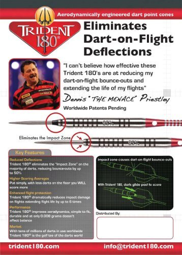 Trident 180 Dart Point Cones - Horizon Darts