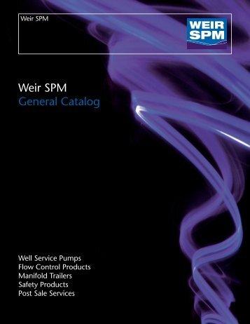 Weir SPM General Catalog - Weir Oil & Gas Division