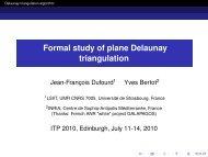 Formal study of plane Delaunay triangulation - Galapagos - Inria