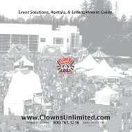 Party Rental, Inflatable Games, and Event ... - Clowns Unlimited