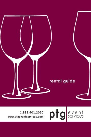 rental guide - PTG Event Services
