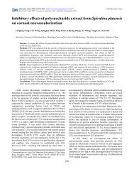 Inhibitory effects of polysaccharide extract from ... - Molecular Vision
