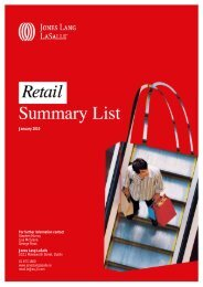 Retail Summary List (XMI 8517) - Jones Lang Lasalle