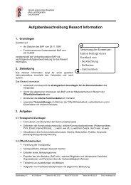 Aufgabenbeschreibung Ressort Information - BAP