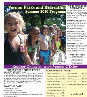 Vernon Parks And Recreation Summer 2010 - Town of Vernon