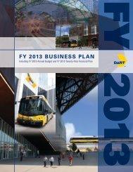 FY 2013 BUSINESS PLAN - Dart