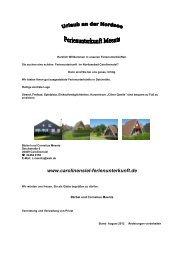 Hausprospekt - Carolinensiel Ferienunterkunft Meents