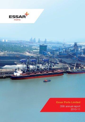 Annual report (2010-11) - Essar